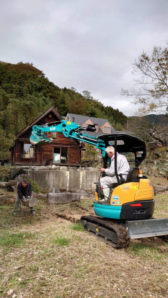 モックカーのチャンピオンコース建設準備